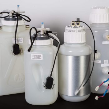Modified Carboys with Custom Bottle Caps that Have Sensors Built in for Use with Reagents & Waste