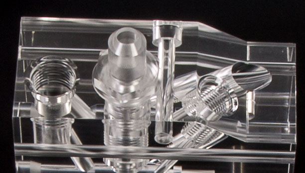 Precision Machined Acrylic Manifold