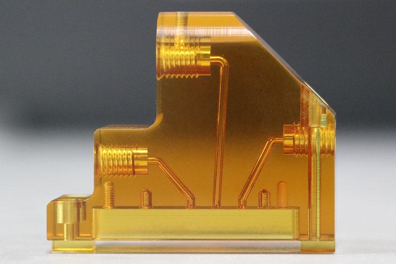 Laser Welded Polysulfone Microfluidic Chip