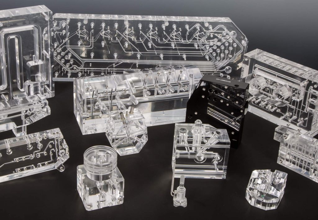 Acrylic Diffusion Bonded Manifolds with Fluidic & Microfluidic Pathways Used in IVD Instruments