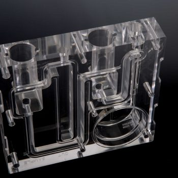 CNC Precision Machined Optically Clear Plastic Manifold