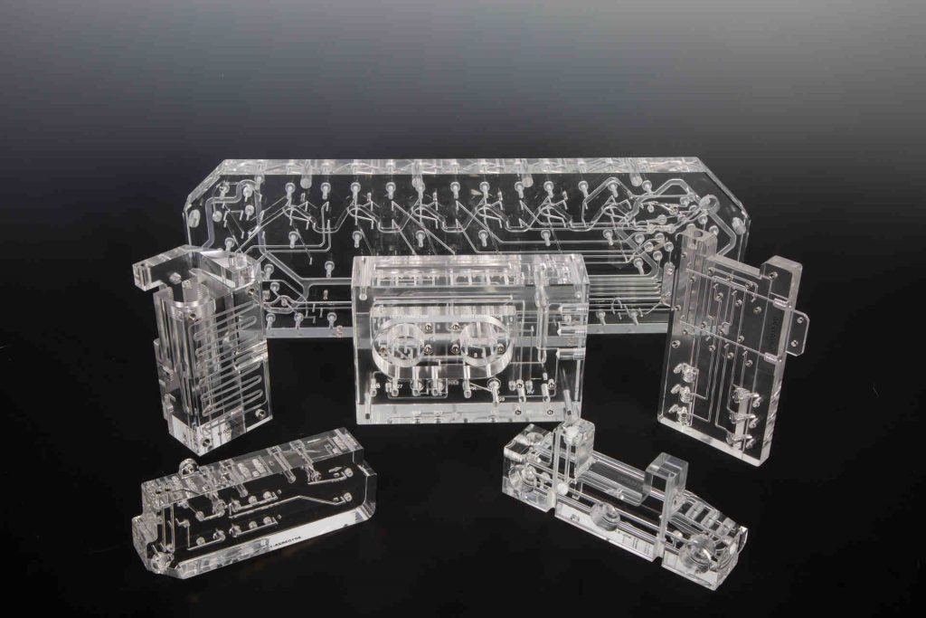 Several Examples of Plastic Diffusion Bonded Manifolds with Burr Free Pathways