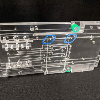 3-layer bonded acrylic dispensing manifold