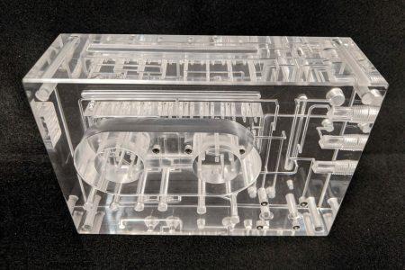 4-layer bonded acrylic manifold