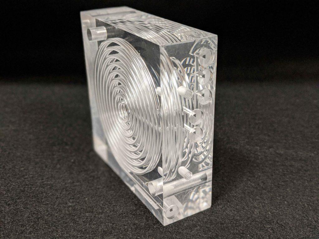 5-layer diffusion bonded acrylic manifold