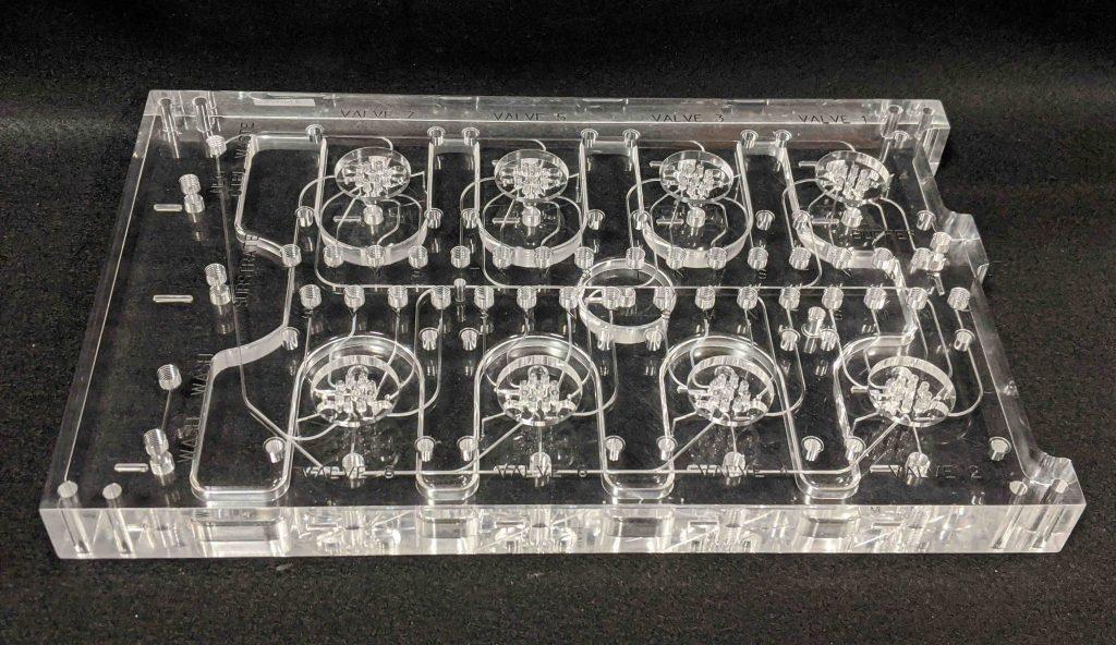 rotary valve bonded acrylic manifold