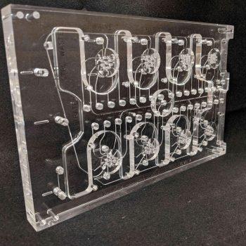 Rotary Valve diffusion bonded acrylic manifold